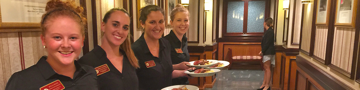 Student servers at the Little Dinner Series