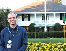 Dedman junior Jonathan Paulson at Augusta National Club