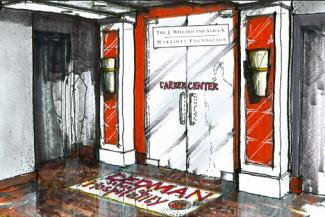 An artist's interpretation of the hospitality career center
