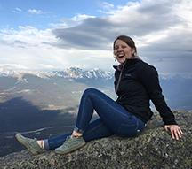 Student Brooke Warnke in the Canadian Rockies